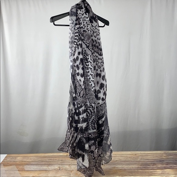 H&M Animal Print Cover Up Scarf